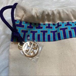 Cream Tory Burch & Blue Drawstring Dust bag